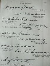 ANTIQUE PRINT C1880'S AUTOGRAPHS OF THE 18TH CENTURY LOUIS XVI ENGRAVING WRITING