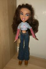 Bratz Yasmin Doll With Brown Hair And Green Blue Eyes, Outfit And Accessories