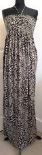 Tu animal print maxi dress strapless with beaded neck tie detail size 12