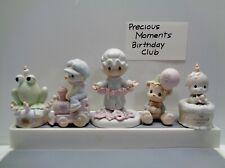 5 Vintage 1980's Precious Moments Birthday Collector Club Pieces