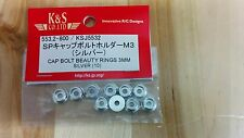 K&S Cap Bolt Beauty Rings: 3mm KSJ5532