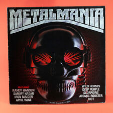 LP HEAVY METAL ROCK METALMANIA Iron maiden Sammy Hagar Scorpions Riot April wine
