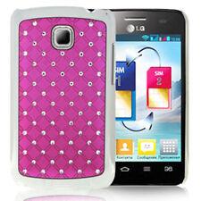 Custodia Rigida Bling Diamond per LG Optimus l3 II e430 rosa guscio case cover posteriore