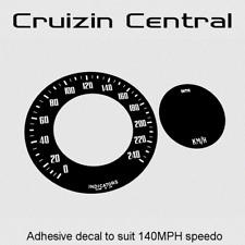 Plastic BLACK DECAL Lotus Elan gauge dash speedo adhesive