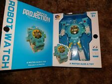 3 In 1 Transformed Robot Projection Watch Kids Toy blue free shipping from USA
