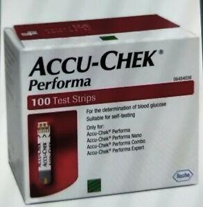 Accu-Chek Performa Blood Glucose 100 Test strips(1 Box ) Free Postage
