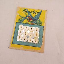 Bluebird Pearl Buttons - Iowa PB Co 1923 - card of 12 buttons
