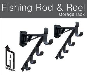 Rack-It-Up Fishing Rod Wall Mount Rack, Rod Storage