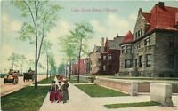 C-1910 Chicago Illinois Lake Shore Drive Franklin postcard 5707
