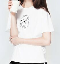 Il latte T-shirt cartoon coreano Top Giappone Kana Kawaii UK 8 -10 Harajuku SMC