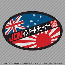 JDM Import Tuner Decal Sticker Japan Australia Flag Rising Sun Kanji P046_03