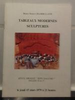 Catalogue Vendita 1979 Drouot Rive Gauche Lavagna Moderno Sculture Delestrasse