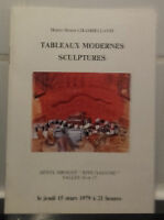 Catálogo Venta 1979 Drouot Rive Izquierdo Pizarras Moderno Escultura Delestrasse