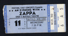 Original 1981 Frank Zappa concert ticket stub Buffalo NY You Are What You Is