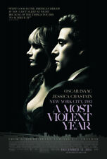 A MOST VIOLENT YEAR MOVIE POSTER 2 Sided ORIGINAL FINAL VF 27x40 OSCAR ISAAC