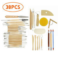 Pottery Clay Sculpting Wax Carving Pottery Modeling Tool Set 38 Pcs