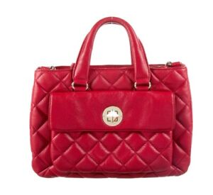 KATE SPADE NEW YORK AUTH Women's Red Quilted Leather Liberty Street Campbell Bag