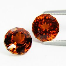 8.41Cts Firing Natural Hessonite Garnet Round Custom Cut Matching Gemstones-VDO