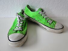 Converse All Star Chucks Sneaker Turnschuhe Slim Low Stoff neon Grün Gr. 6 / 40