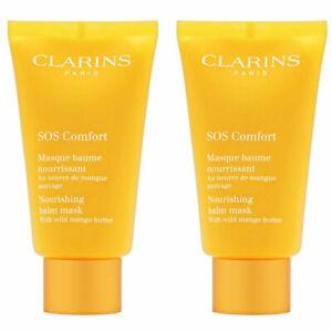 (Pack of 2) NEW Clarins SOS Comfort Nourishing Balm Mask, 2.3 Oz ea