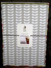 New Orla Kiely Tiny Stem Gray King or Queen Size Duvet Cover + 2 Shams Set MCM