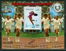 Paraguay Olympische Spiele Olympic Games 1980 MUESTRA Hamill USA block