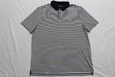 Nautica Mens Blue Polo Shirt White Striped Short Sleeve XXL