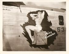 World War ll Army Air Corps Nose Art 'Miss Traveler' Photo - Pacific Theater