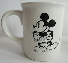Classic Black & White Vintage 1980's Mickey Mouse & Co. Oversized Coffee Mug
