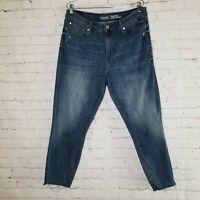 Levi's Womens Jeans Sz 16 High Rise Skinny Cropped Slim Ankle 34x26 Medium Wash