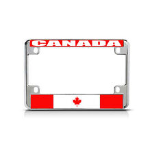 CANADA Flag Metal Motorcycle Bike License Plate Frame Tag Border