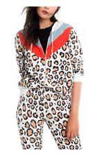 Wildfox couture women's hoodie, zip, leopard, hellcat prescott, s. xs, s, m