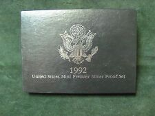 1992 S US Silver Premier Set with Original Box and Certificate