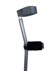 Padded Crutch Handle Covers EASY FIT Foam Pads Crutches Adult Pain Black