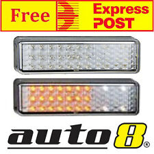 SET OF 2 LED BULLBAR FRONT INDICATOR & PARK LIGHTS FITS MOST ARB BULL BAR LIGHT
