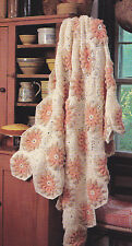 Crochet Pattern ~ Flower Petals & Lace Afghan ~ Instructions