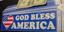 WHOLESALE LOT 100 GOD BLESS AMERICA BUMPER STICKERS USA FLAG DECAL PATRIOTIC US