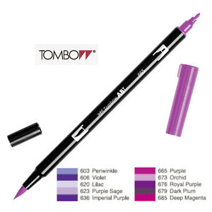 Tombow : Dual Brush Pen  ABT 603 to 685  Violet shade