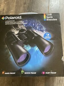 Polaroid 12x50 Sports Binoculars Water Resistant IB-1250 New