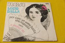 """7"""" SOLO COPERTINA SENZA DISCO LUCIO DALLA PER FARE UN UOMO ORIG '60 !!!!!!!!!!"""