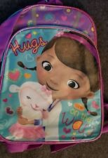 Disney Doc Mcstuffins Hugs Are On the Way 16 Inch Backpack New 2014