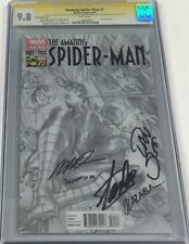 Amazing Spiderman #1 B&W 1:300 Sketch Variant Signed Stan Lee +4 More CGC 9.8 SS