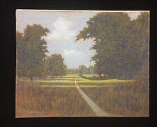 Framed Pastel Landscape By Halfred Tygesen 1890-1951 Danish