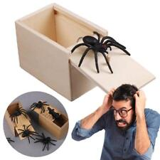 Funny Prank Spider Wooden Scare Box Home Office Joke Gag Toy Kids Adult Toy Hot