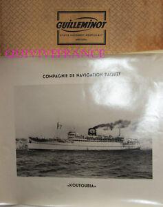 Gran Foto Cnp Compañía Navegación Paquete - Koutoubia Transbordador 1946 -1961
