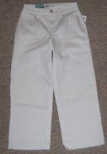 OLD NAVY White Denim High Waist Wide Leg Cropped Ankle Jeans Sze 0 Inseam 24 NWT