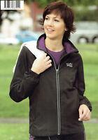 Damen Laufjacke Walkingjacke Sportjacke Jacke wind-/wasserabweisend schwarz/lila