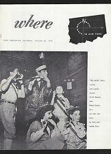 "Robert Preston ""MUSIC MAN"" Meredith Willson 1959 New York's ""Where"" Magazine"