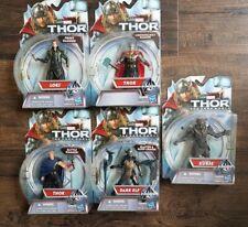 Thor Dark World set of five 3.75 figures mint.
