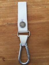 Adidas Originals Leather Key Chain Keyring Carabiner Fob